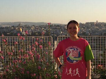 More Than Aware runner in Jerusalem
