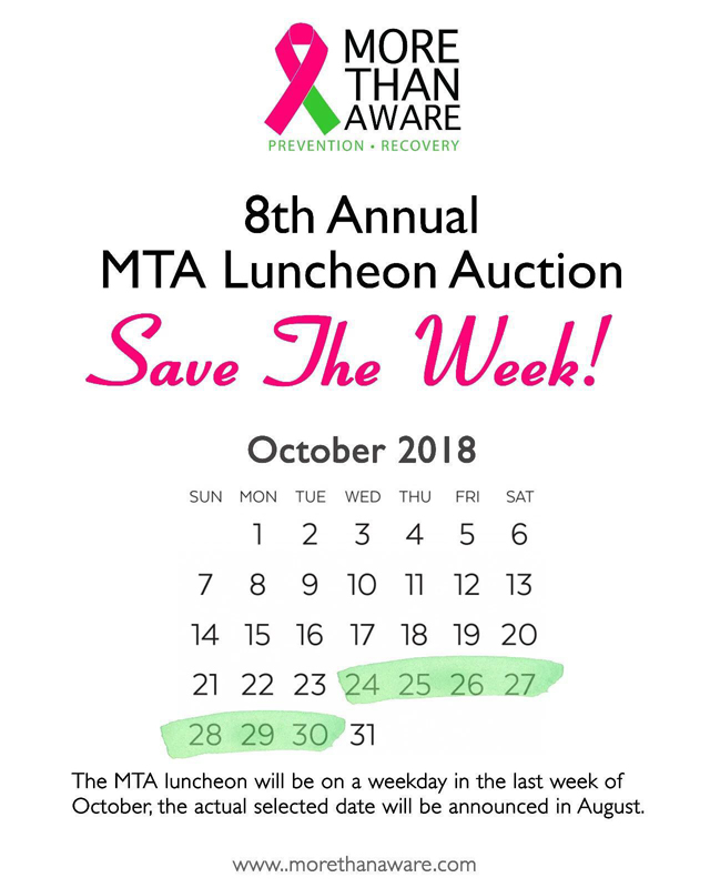 MTA Luncheon Save the Date