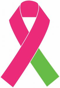 pink and green ribbon