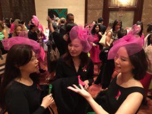 pink fascinators