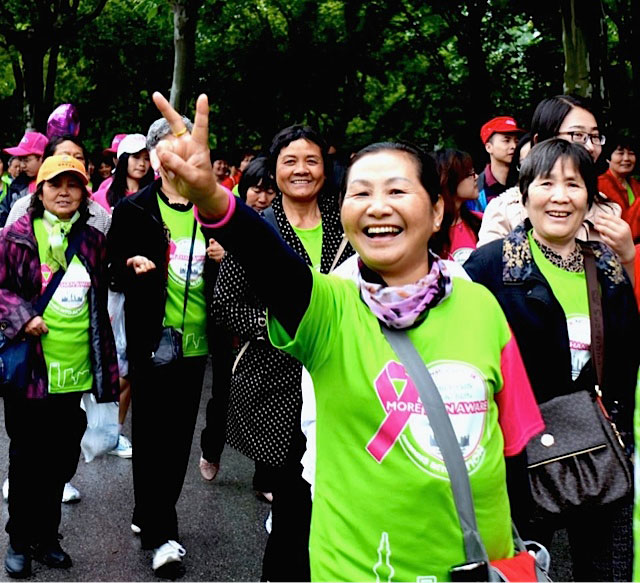 Shanghai cancer walk