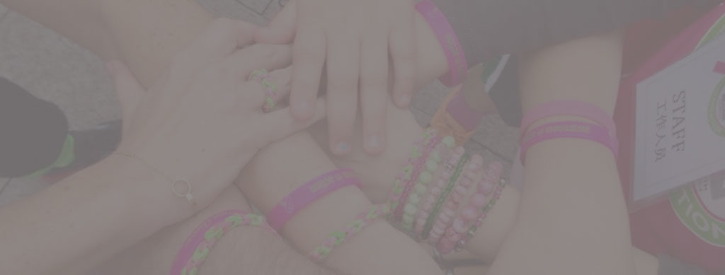 pink and green bracelets