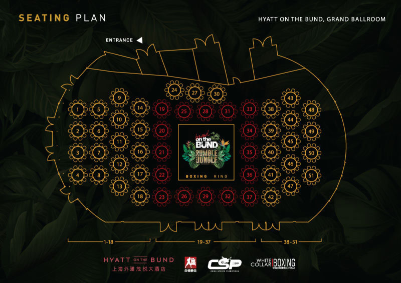 Brawl on the Bund seating plan
